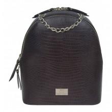 Рюкзак женский кожаный Franchesco Mariscotti 1-4225к тр игуана корич