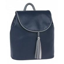 Рюкзак женский кожаный Franchesco Mariscotti 1-4376к фр океан-дым