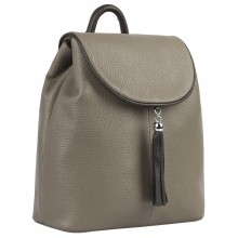 Рюкзак женский кожаный Franchesco Mariscotti 1-4376к-520 капучино-каштан
