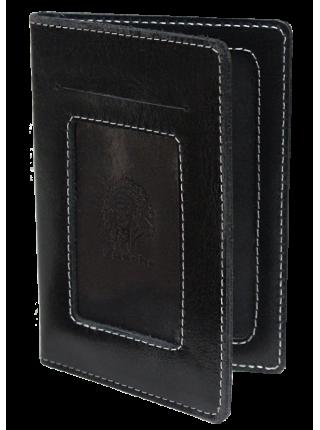 Бумажник водителя ОВ-4-A дымчато-черный Apache