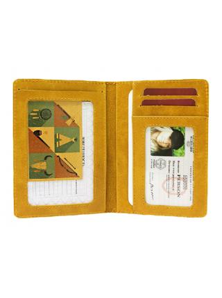 Бумажник водителя ОВ-А табачно-желтый Аpache