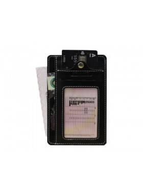 Обложка для автодокументов ОВ-S черный Apache RFID