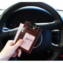 Обложка для автодокументов из кожи ОВ-S коричневый Apache RFID