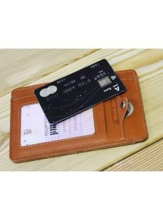Бумажник водителя ОВ-S рыжий Apache RFID