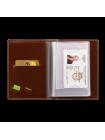 Бумажник водителя  из глянцевой кожи ОВ-О Эллада