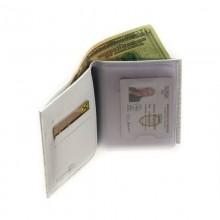 Портмоне для автодокументов с отделением для денег и карт С-БИ-1 крокодил белый Флауэрс