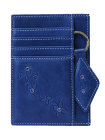 Обложка для автодокументов женская из натуральной кожи ОВ-М Мэри Kniksen синий