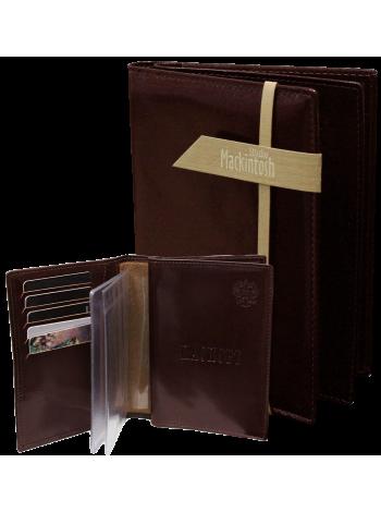 Обложка для паспорта и автодокументов мужская МВП-3 о2 бордовая Mackintosh Studio
