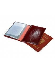 Обложка для автодокументов и паспорта ОВ-3 красный Person