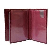 Обложка для автодокументов и паспорта натуральная кожа ОВ-4 Person бургундия
