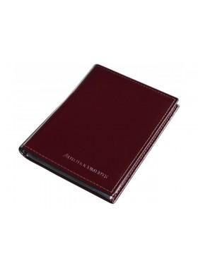 Обложка для автодокументов и паспорта натуральная кожа ОВ-4 Person красный