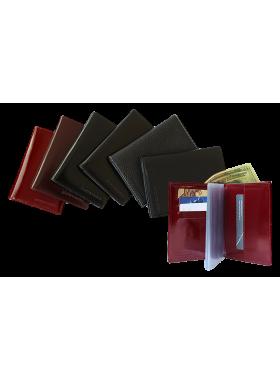 Обложка портмоне для автодокументов с отделением для денег и карт натуральная кожа БИ-1 Person