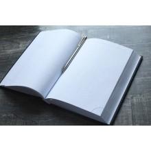 Ежедневник натуральная кожа ЕЖ-А5 Person белый синий