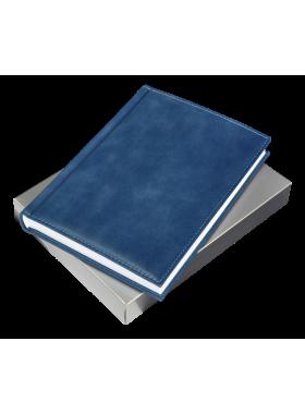 Ежедневник натуральная кожа ЕЖ-А5 Person синий