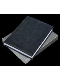 Ежедневник натуральная кожа ЕЖ-А5 Person темно-синий