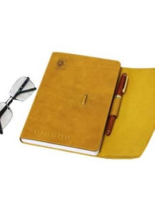 Ежедневник табачно- желтый с клапаном Apache