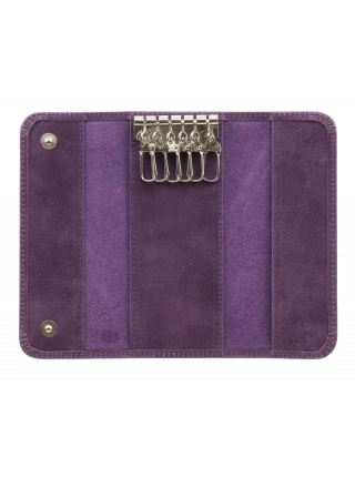 Футляр для ключей из кожи С-КС друид фиолетовый Флауэрс