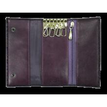 Футляр для ключей женский натуральная кожа КБ-3 lancetta фиолетовый Kniksen
