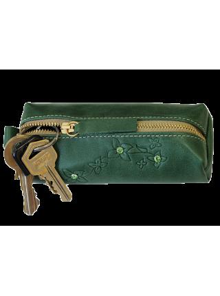 Ключница кожаная женская зеленый Мэри друид КМ-2 Kniksen