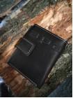 Купюрник кожаный мужской МП-А дымчато-черный Apache