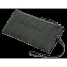 Клатч портмоне мужское кожаное БМ-А дымчато-черное Apache