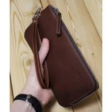 Портмоне мужское из кожи ФРТ-S коричневое Apache RFID