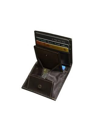 Кожаное портмоне мужское купит К-10 коричневое Apache RFID