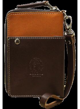 Портмоне клатч мужской МК-S-9 рыжее Apache RFID