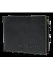 Портмоне мужское МК-3-L limited из кожи черного и серого цвета Apache