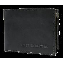 Портмоне мужское МК-3-Л limited черного и серого цвета Apache