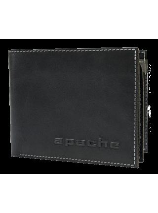 Портмоне мужское МК-3-Л черного и серого цвета лимитед Apache