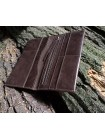 Портмоне для документов и денег из кожи на скрытых магнитах Вояж-2-A дымчато-коричневое Apache