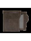 Мужское портмоне из натуральной кожи П-17-А дымчато-коричневое Apache