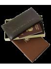 Портмоне путешественника для документов и денег Вояж-A дымчато-коричневое Apache