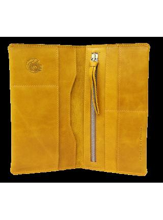 Портмоне путешественника Вояж табачно-желтое Apache