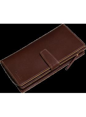 Портмоне-тревел МК-S-8 коричневый Apache RFID