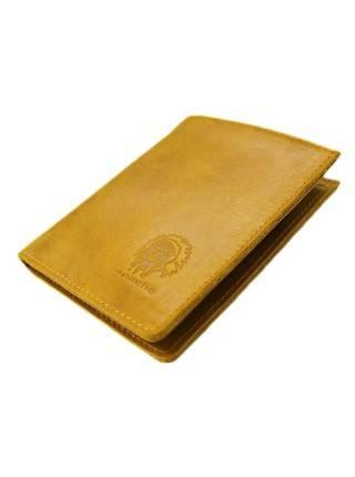 Мужской кошелек портмоне ВП-А табачно-желтое Apache RFID