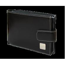 Портмоне КВ-3 черное из натуральной кожи с блоком для автодокуметов Person