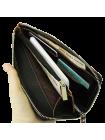 Портмоне кошелек большое ПО-RS из натуральной кожи черный RS