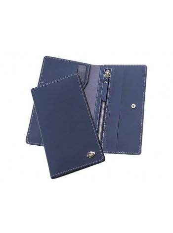 Портмоне для документов и денег КО-2-RS Blue классическое RS синий