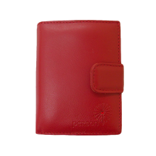 Кошелек портмоне женское натуральная кожа С-Джари люкс красный Флауэрс