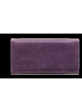 Портмоне кошелек кожаный женский С-ВП-2 друид фиолетовый Флауэрс