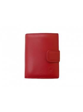 Портмоне женское натуральная кожа С-Джари люкс красный Флауэрс