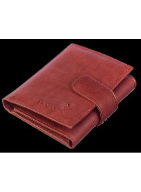 Кошелек портмоне женское натуральная кожа С-Джари друид красный Флауэрс
