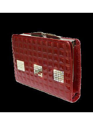 Кошелек женский лаковый РК-1 red ice Kniksen