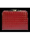 Кошелек женский красный со Сваровски РК-1 red mesh Kniksen