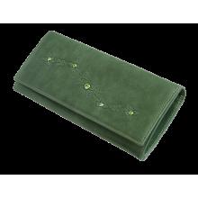 Портмоне кошелек женский кожаный Мэри ВП-17 друид зеленый Kniksen