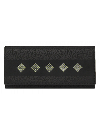 Кошелек женский кожаный ВП-14 black stone Kniksen