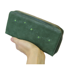 Кошелек женский натуральная кожа Мэри ВП-1 друид зеленый Kniksen