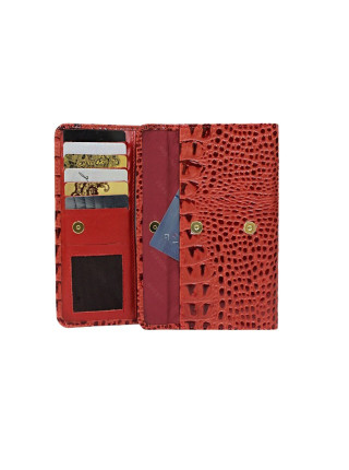 Кошелек женский ВП-2 К кайман красный Person RFID